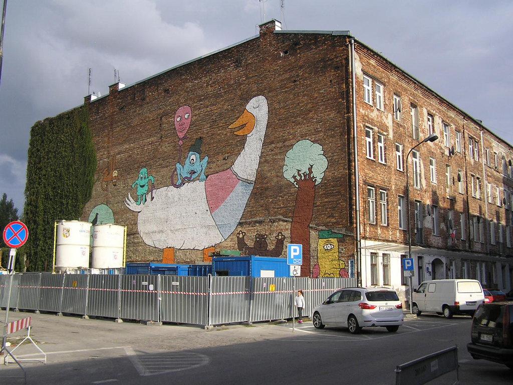 Mural - Wielka Gęś na Brzeskiej 14A