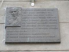 Tablica upamiętniająca aresztowanie Zygmunta Rylskiego