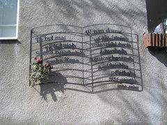 Tablica pamięci Agnieszki Osieckiej wWarszawie