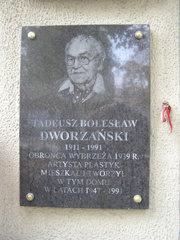 Tablica pamięci Tadeusza Dworzańskiego