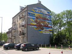 Mural Jan Paweł II przy Frycza Modrzewskiego 23