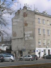 mural Loesje przy Grochowskiej 292