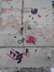 Mural przy Małej 6 na Pradze
