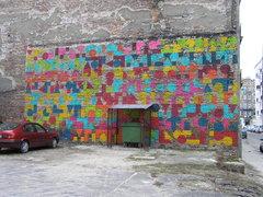 Mural przy Małej 4 na Pradze