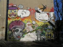 Mural przy Osowskiej 49 wWarszawie