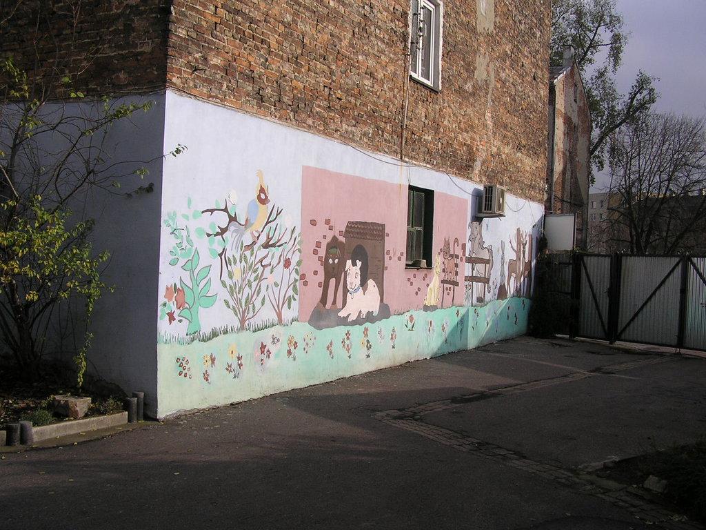 Mural przy ulicy Radzymińskiej 53