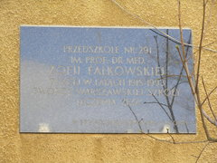 Tablica pamięci Zofii Falkowskiej