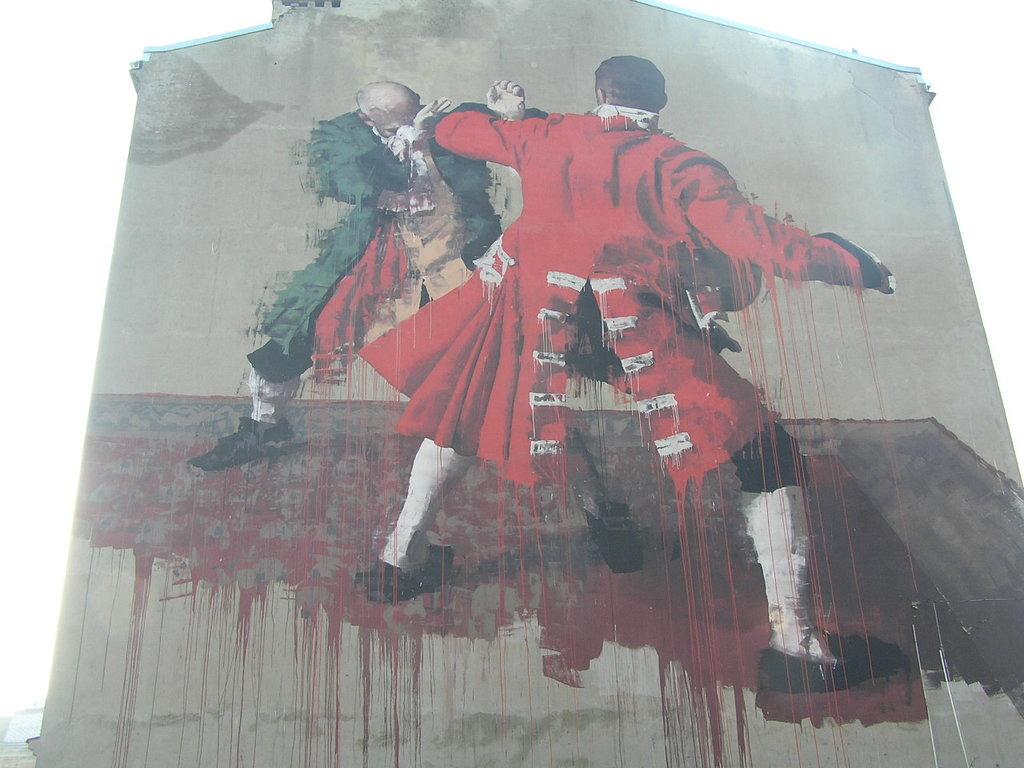 Mural Warsaw Fight Club przy Środkowej 17