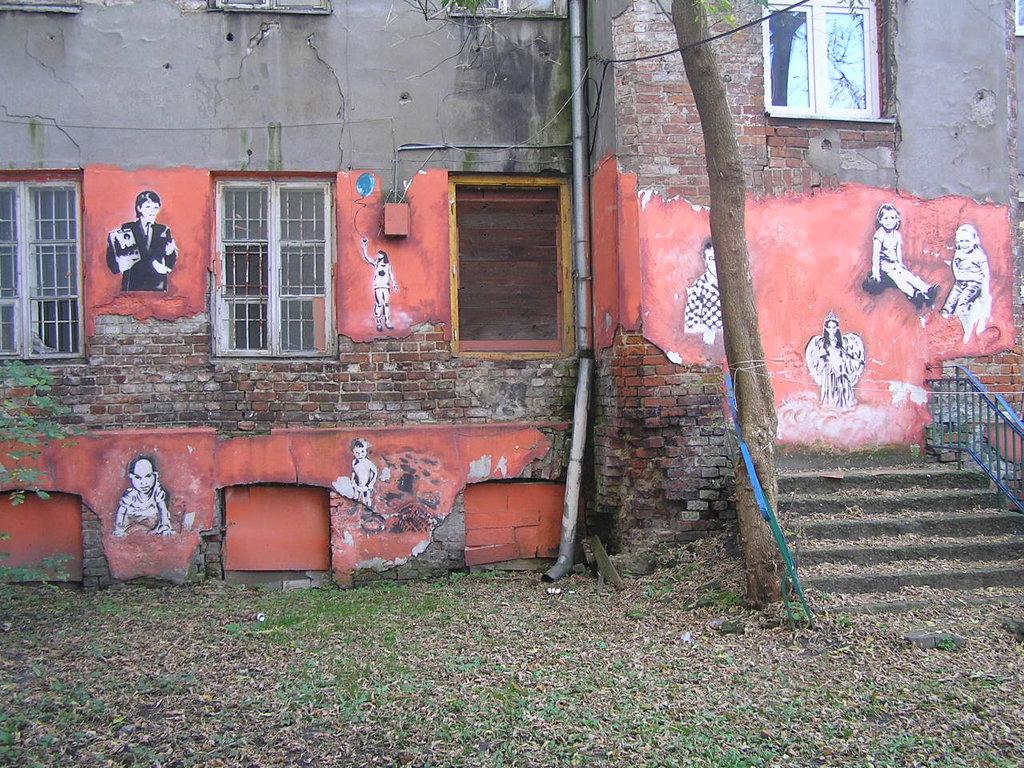 Mural przy Stalowej 51 na Pradze