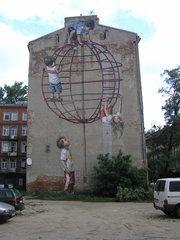 Mural Plac Zabaw przy Stalowej 41