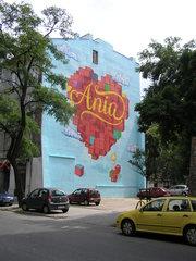 Mural Ania przy Stalowej 50