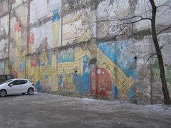 Mural przy Stalowej 46 wWarszawie