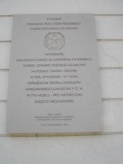 Tablica upamiętniająca POW