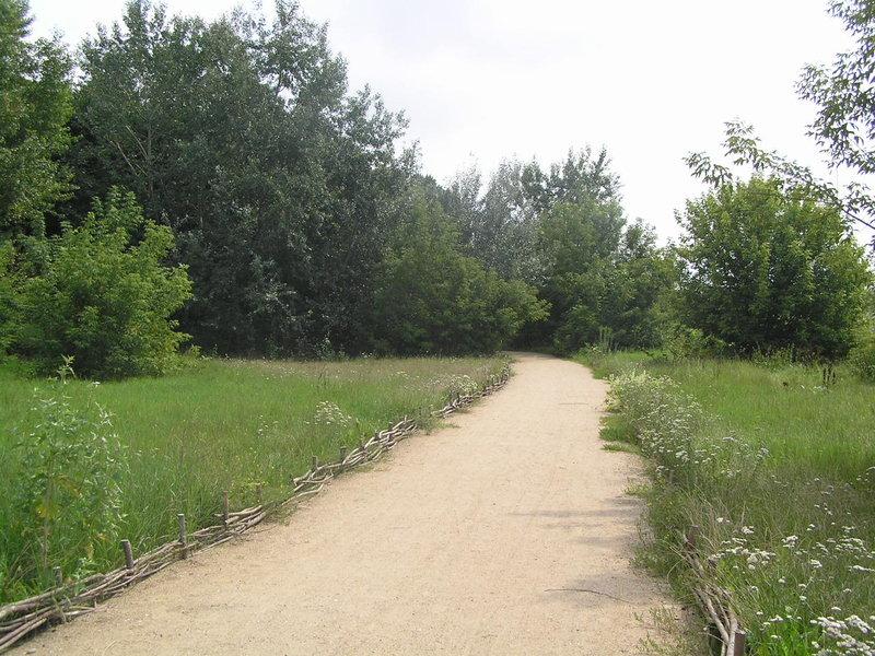 Ścieżka spacerowa na praskim brzegu Wisły