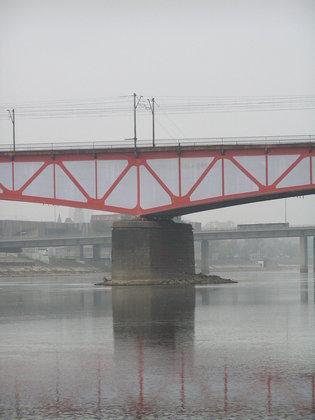 Most Średnicowy przykryty płachtą