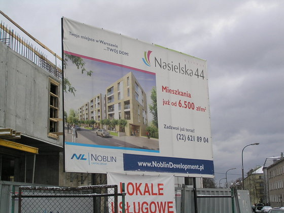 Nasielska 44 - Budowa osiedla Nasielska
