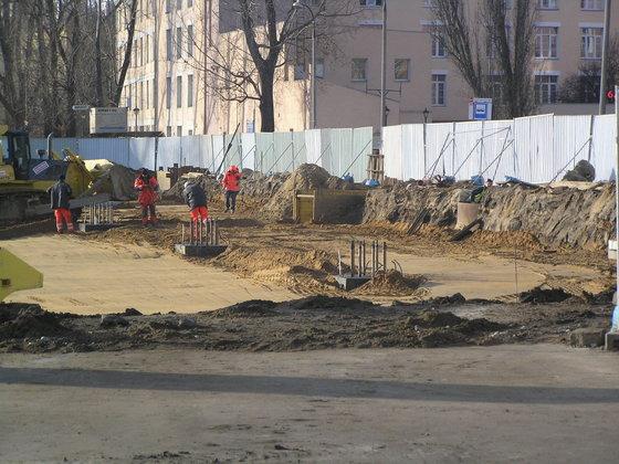 Trwa budowa pętli przy Dworcu Wschodnim