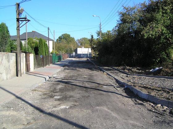 Przebudowa ulicy Wiarusów