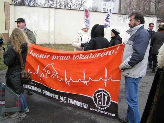 Protest Komitetu Obrony Lokatorów