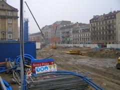Budowa metra na ulicy Targowej