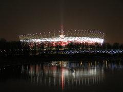 Stadion Narodowy wnocy