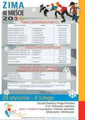 Program Zima wMieście 2013 na Pradze Południe