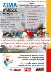 Program Zima wMieście 2013 na Pradze Północ