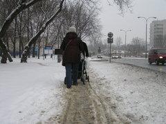 Zaśnieżona ulica Grochowska