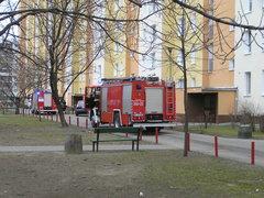 Łukowska 5 - interwencja Straży Pożarnej