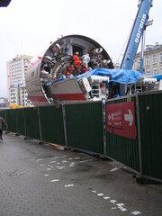 Montaż tarczy TBM na Pradze