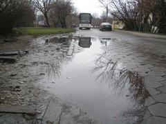 Fatalny stan nawierzni ulicy Podolskiej