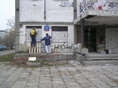 Podskarbińska 11 - prace zabezpieczające