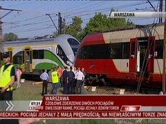 Zderzenie pociągów na Pradze - fot. TVP