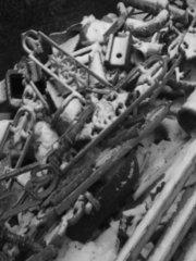 Skradziene elementy, fot. Rada Osiedla Kamionek