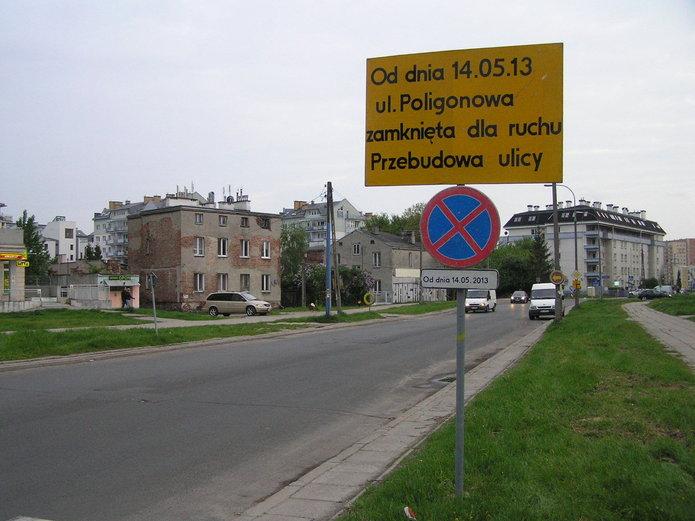 Zamknięta ulica Poligonowa