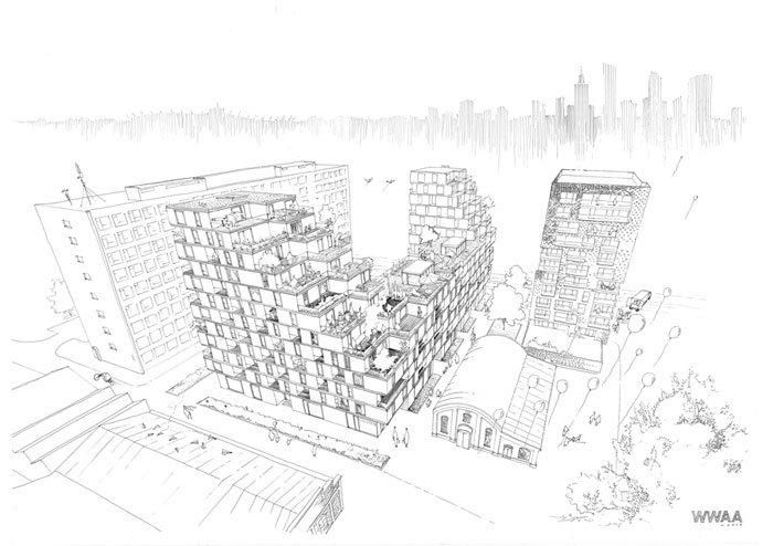 TETRIS, Soho Factory Konkret Architekci WWAA, źródło: facebook.com/WWAAWARSAW