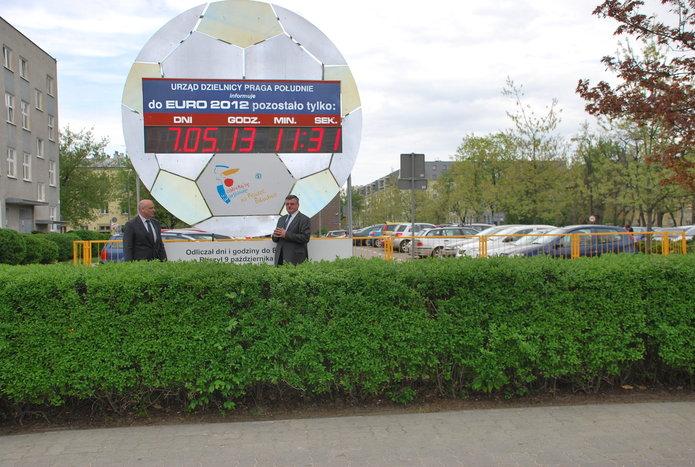 Euro-zegar, fot. Urząd Dzielnicy Praga Południe
