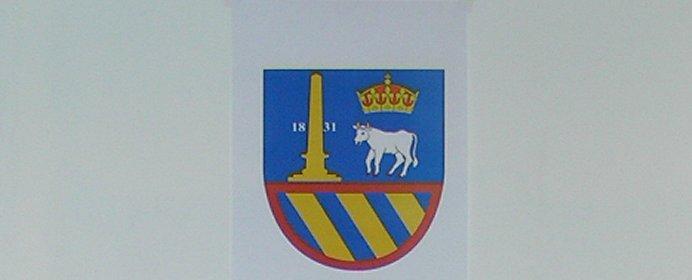 rb dzielnicy opartego na burgundzkim herbie Kapituły Płockiej iKamiona