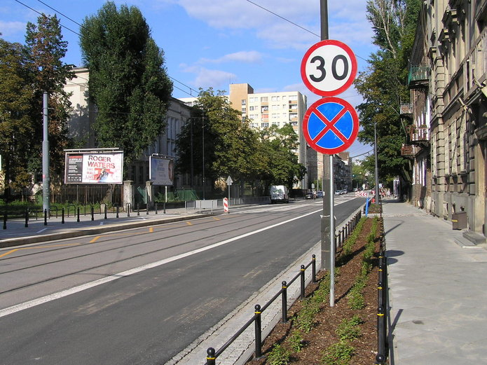 Ulica Kawęczyńska wczasie przebudowy