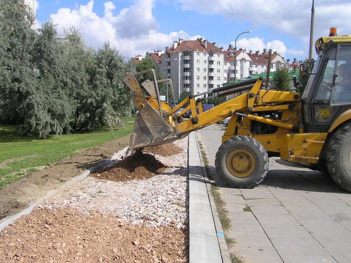 Budowa ścieżki rowerowej na Rechniewskiego