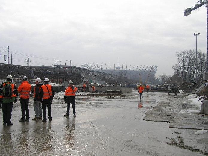 Budowa stacji C14 Stadion Narodowy