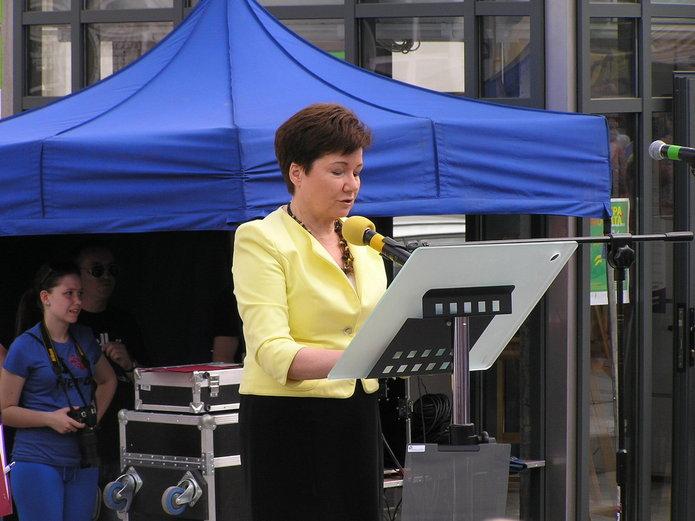 Hanna Gronkiewicz-Waltz na otwarciu Placu Szembeka