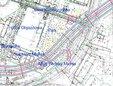 Fragment planu sytuacyjnego zprzebiegiem Trasy Świętokrzyskiej przez park przy ulicy Kawęczyńskiej [żródło: SISKOM]