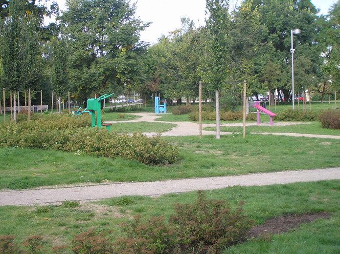 Siłownie wparku nad Balatonem
