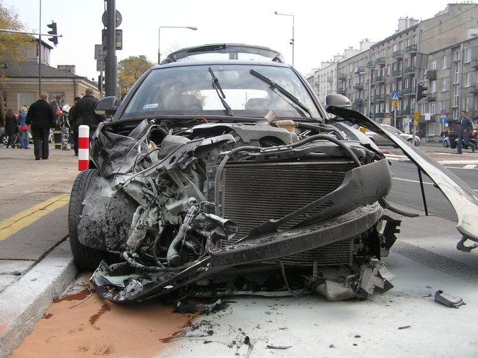 Wypadek zudziałem motocyklisty na Grochowskiej