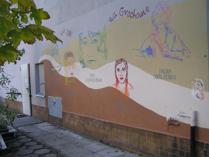 Kobiecy mural na Garibaldiego 5a