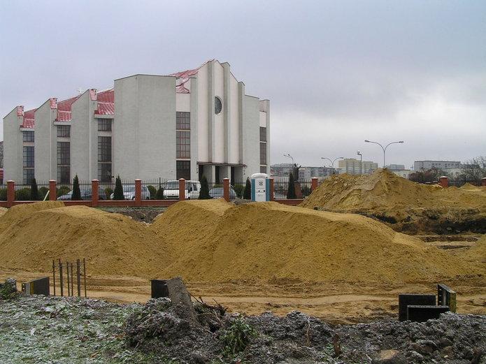Na Gocławiu trwa budowa sklepu Lidl