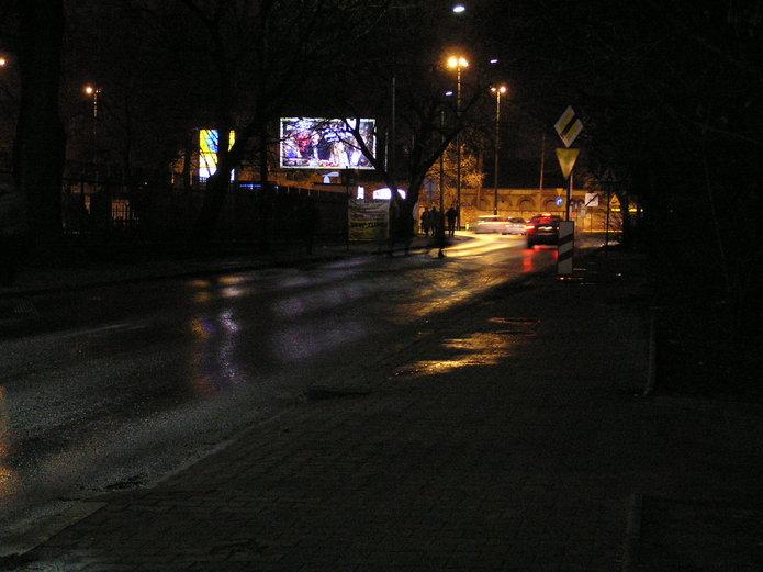 Uica Ireny Kosmowskiej po zmroku