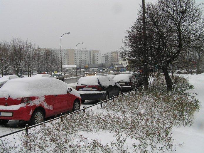 ul. Abrahama - zaparkowane samochody