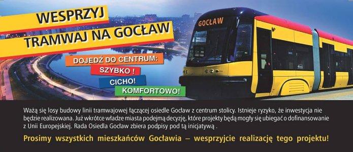 Tramwaj na Gocław - plakat